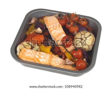 Roast Salmon with Vegetables