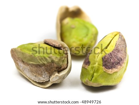 Roasted and salted pistachio nuts - stock photo