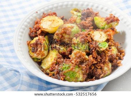 Roasted Brussels Sprouts With Bread Crumbs