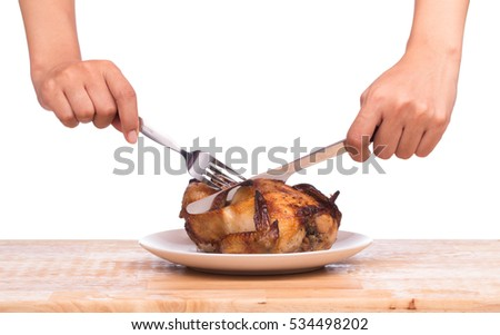 how to eat chicken with fork and knife