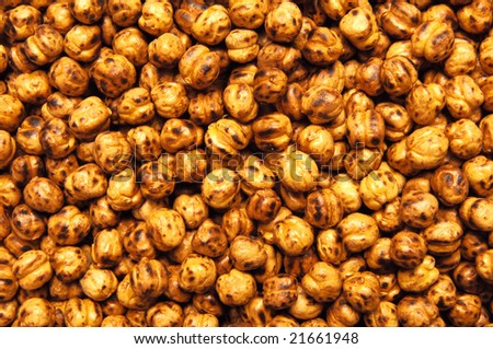 roasted chickpea - stock photo