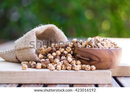 roasted chickpea and raisins - stock photo