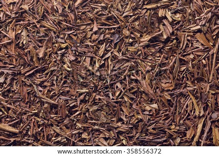 Roasted green tea , Roasted tea , Hojicha , Japanese tea - stock photo