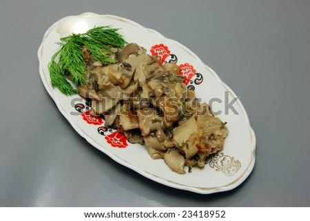 Roasted Mushrooms - stock photo