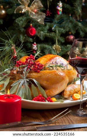 Christmas Turkey Dinner Stock Images, Royalty-Free Images ...