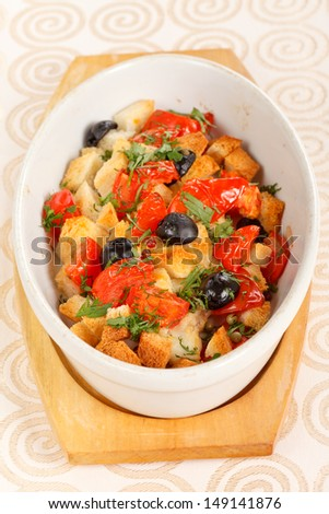 roasted vegetables - stock photo