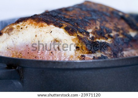 roasting meat loin - stock photo
