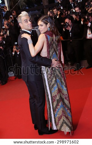 Robbie Williams & Ayda Field attend the premiere of 'The Sea Of Trees' during the 68th annual Cannes Film Festival on May 16, 2015 in Cannes, France. - stock photo