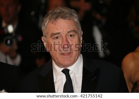 Robert de Niro  leave the 'Hands Of Stone' premiere during the 69th annual Cannes Film Festival at the Palais des Festivals on May 16, 2016 in Cannes, France.