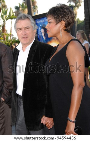 "Robert De Niro & wife Grace Hightower at the Los Angeles premiere of ""Stardust"" at Paramount Studios, Hollywood. July 30, 2007  Los Angeles, CA Picture: Paul Smith / Featureflash - stock photo"