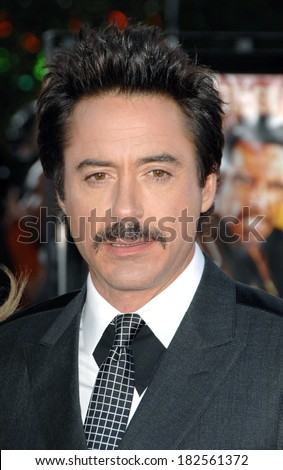 Robert Downey Jr at Los Angeles Premiere of TROPIC THUNDER, Mann's Village Theatre in Westwood, Los Angeles, CA, August 11, 2008 - stock photo
