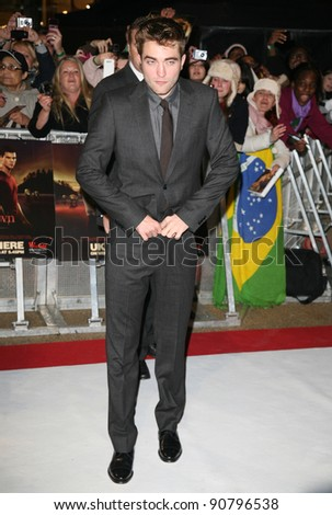 Robert Pattinson arriving for the UK premiere of The Twilight Saga: Breaking Dawn Part 1 at Westfield Stratford City, London. 17/11/2011 Picture by: Alexandra Glen / Featureflash - stock photo