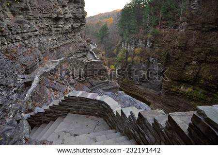 Robert Treman State Park, Ithaca, NY - stock photo