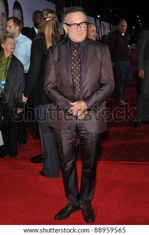 "Robin Williams at the world premiere of his new movie Walt Disney's ""Old Dogs"" at the El Capitan Theatre, Hollywood. November 9, 2009  Los Angeles, CA Picture: Paul Smith / Featureflash - stock photo"