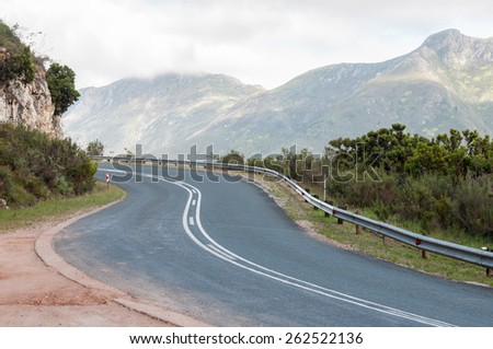 ROBINSON PASS, SOUTH AFRICA - JANUARY 2, 2015: Robinson Pass over the Outeniqua Mountains between Mosselbay and Oudtshoorn in the Western Cape Province of South Africa