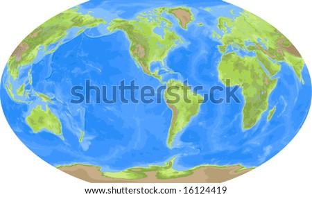 Robinson world map americas centered stock illustration 16124419 robinson world map americas centered gumiabroncs Choice Image