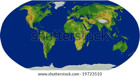 Topographic World Map Stock Images RoyaltyFree Images Vectors - Global terrain map