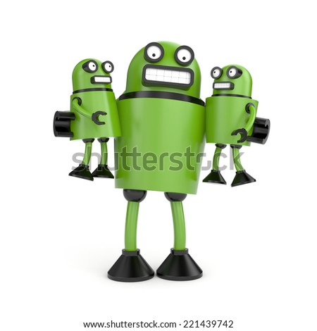 Robo family - stock photo