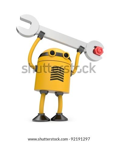 Robot at work - stock photo