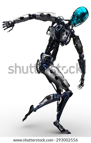 robot discus - stock photo