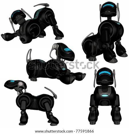 Robot Dog - stock photo