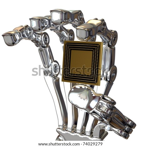 robot hand and CPU