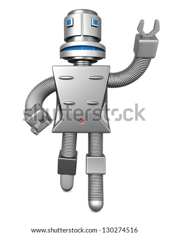 Robot services technology business concept 3d illustration