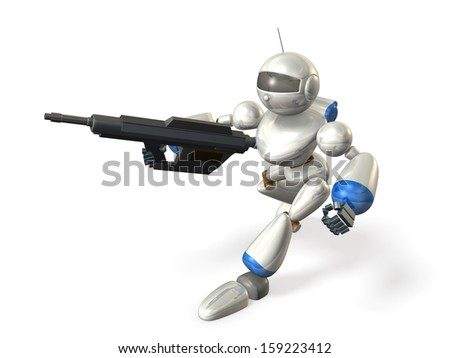 Robot soldiers to assault
