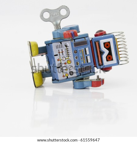 robot toy - stock photo