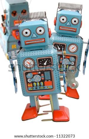 robot toys - stock photo