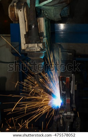 robot welding auto part