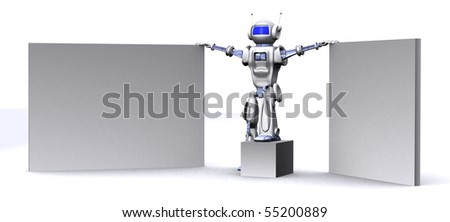 Robot with empty billboards