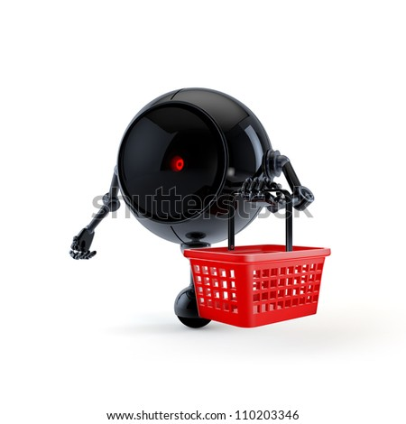 Robot with Market Basket