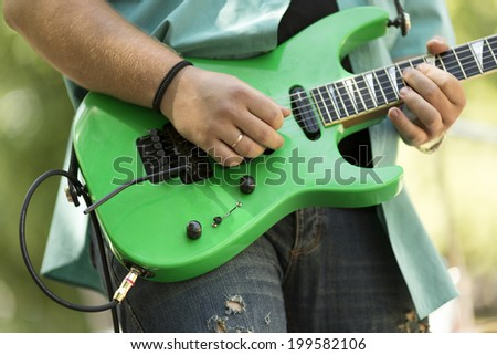 rock and roll concert - stock photo