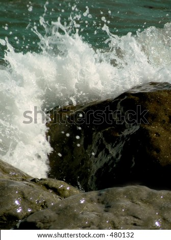 rock and waves