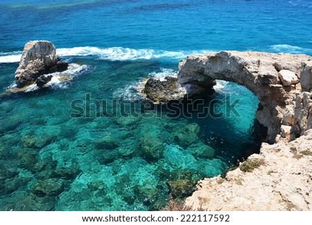 Rock arch. Ayia Napa, Cyprus  - stock photo