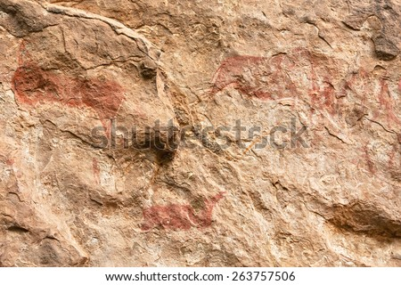 Rock art in Liphofung Cave. Shot in Lesotho.