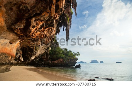 Rock at the beach - stock photo