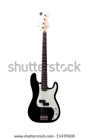 Rock bass guitar isolated on the white background - stock photo