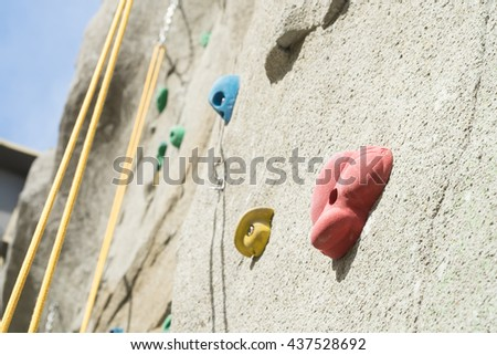 Rock climbing wall, background concept - stock photo