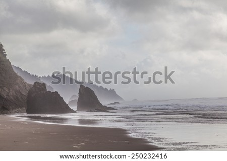 rock formation by the sea in the Pacific Coastline