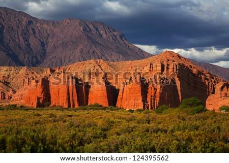 Rock formation, El Cafayate, Salta, Argentina - stock photo
