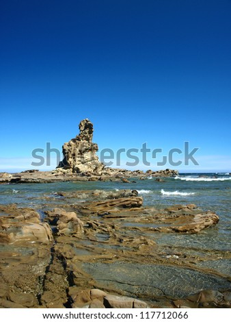 Rock formation on the south coast of Victoria, Australia