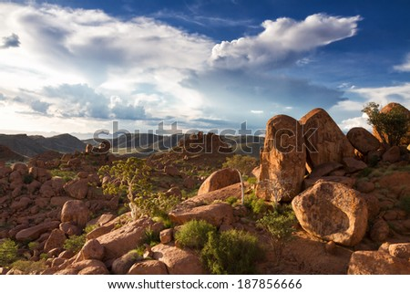 Rock formations at Damaraland, Namibia, Africa - stock photo