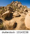 Rock formations, Joshua Tree National Park - stock photo