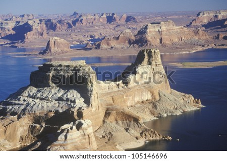 Rock Formations, Lake Powell, Page, Arizona