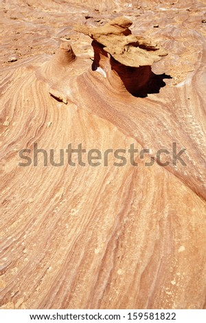 Rock formations of sand stone in Gold Butte, Nevada. - stock photo