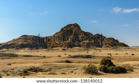 Rock in the desert - stock photo