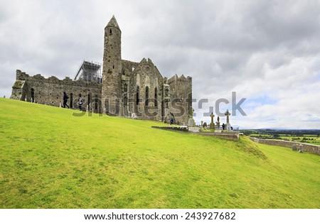 Rock of Cashel. County Tipperary in Ireland. - stock photo