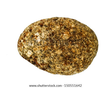 rock stone isolated on white background